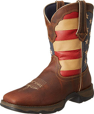 Durango Lady Rebel Brown/Union Flag Boot