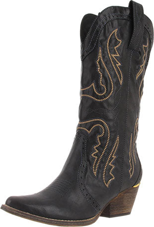 Very Volatile Black Raspy Boot