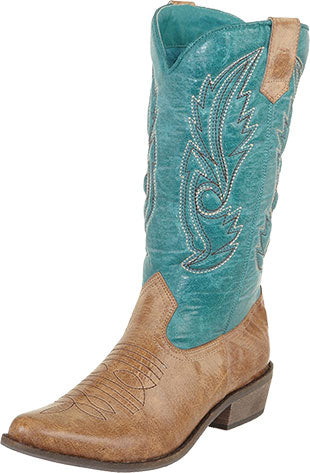 Coconuts by Matisse Gaucho Tan/Turquoise Boot