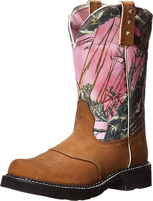 Ariat Dry Well Tan/True Timber Pink Camo Boot