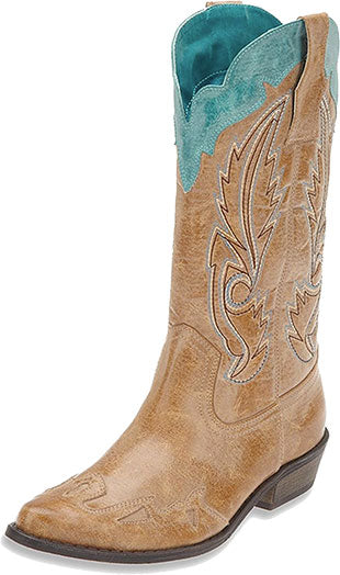 Coconuts by Matisse Tan/Turquoise Cimmaron Boot