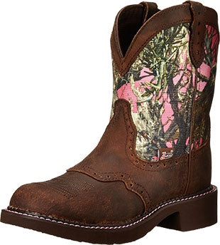 Justin Boots Aged Bark/Pink Camo