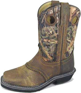 Smoky Mountain Brown Oil Distress/Camo Boot