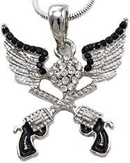 Pistol Angel Wing Necklace