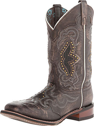 Laredo Black/Tan Spellbound Western Boot