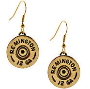 12 Gauge Gold Earrings