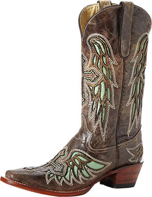 Ferrini Brown/Green Laser Angel Boot