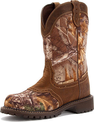 Justin Realtree Camo/Aged Bark Steel Toe Boot