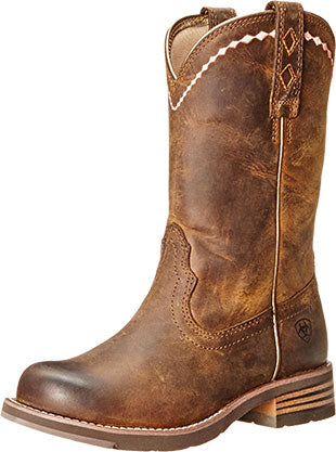 Ariat Distressed Brown Unbridled Roper Boot