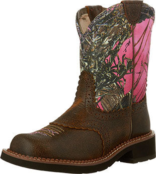 Ariat Vintage Bomber/Pink Camo Fatbaby Boot