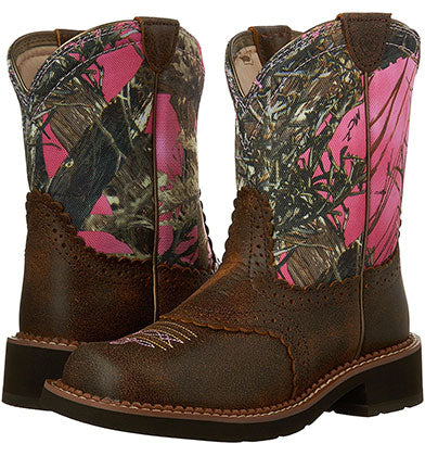 Ariat Pink Camo Boots