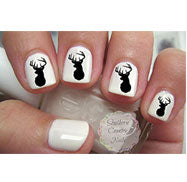 Deer Nail Decals
