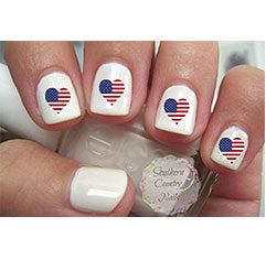 Flag Nail Decals
