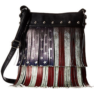 Fringed Flag Purse