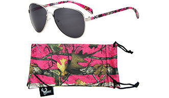 Pink Camo Aviator Sunglasses