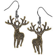 Deer Dangle Earrings