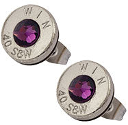 Purple Bullet Earrings