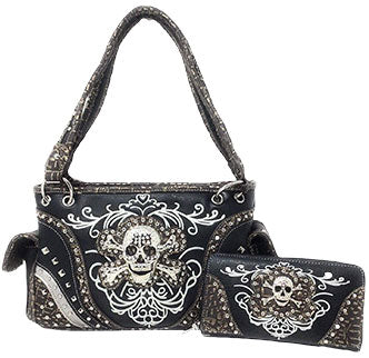 Black Skull Purse/Wallet