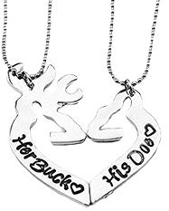 His and Hers Buck Necklace