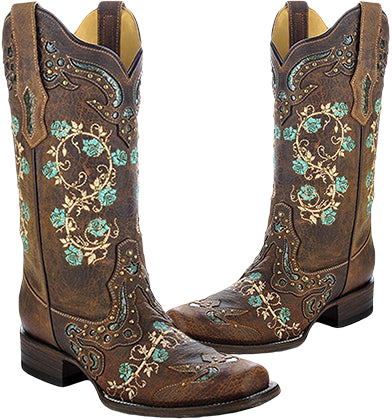 Corral Floral Boots