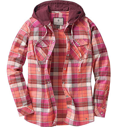 Fusion Plaid Hooded Flannel