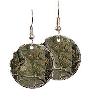 Round Camo Earrings