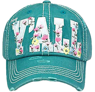Y'all Turquoise Cap