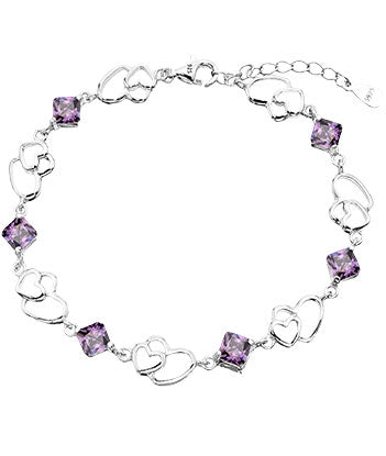 Purple Heart Bracelet