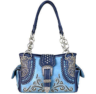 Blue Buckle Purse