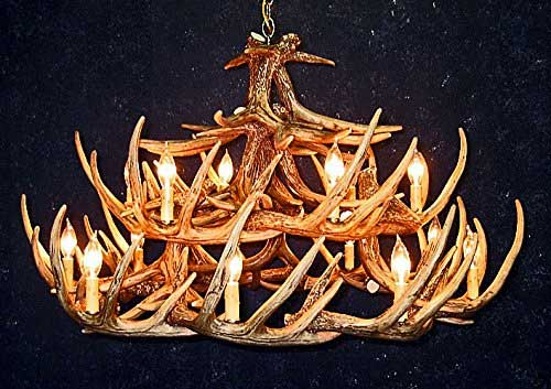 10 replica antler chandeliers real country ladies twenty four sets of replicated whitetail deer antlers are individually hand stained and antiqued before they are beautifully crafted into a three tier aloadofball Choice Image