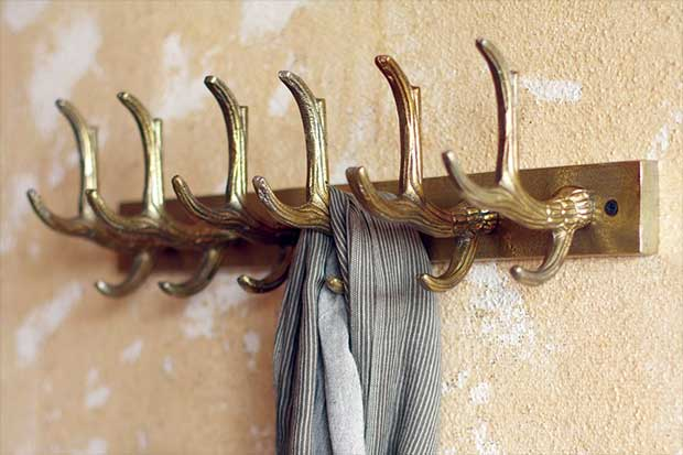 Antique Brass Antler Rack