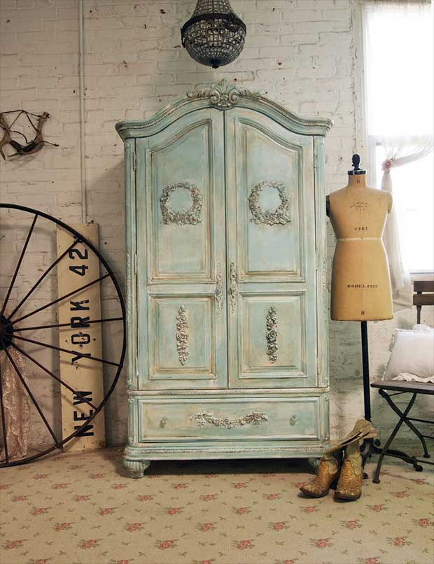Aqua Clothing Armoire Is The Perfect Accent Piece To Turn Your Master Bedroom In A Romantic Getaway Use This Store Or Hide Television