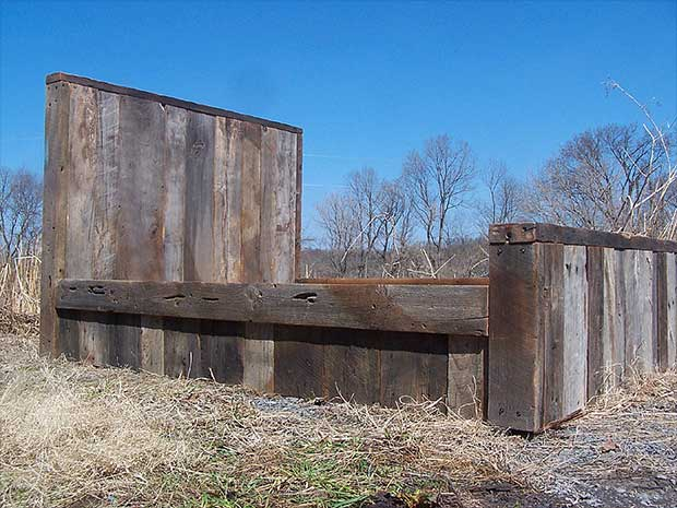 Weathered Antique Barn Wood Bed
