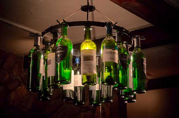 10 rustic bottle chandeliers real country ladies wine bottle chandelier mozeypictures Choice Image