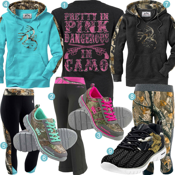 Dangerous in Camo Yoga Pants Outfits