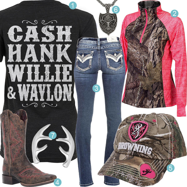 Cash Hank Willie Waylon Outfit