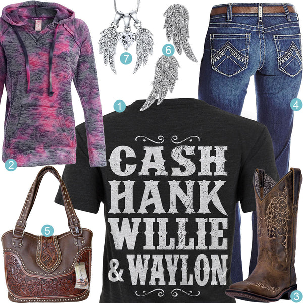 Cash Hank Willie & Waylon Outfit