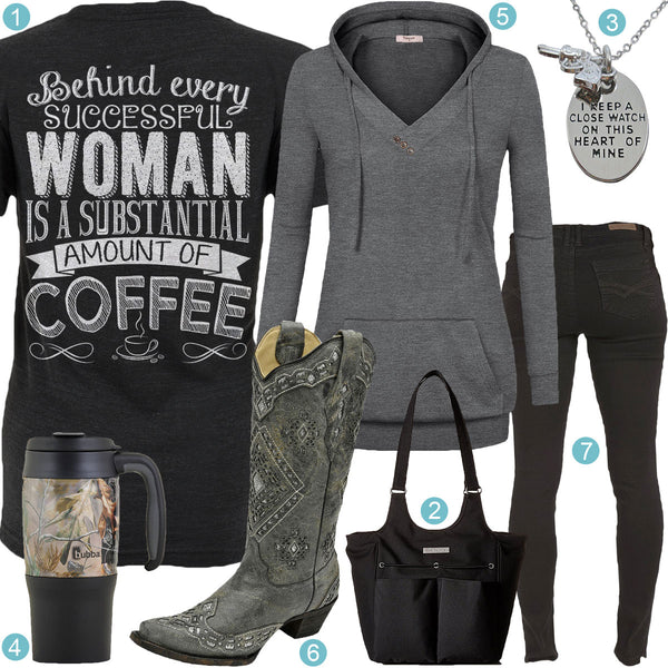 Substantial Amount Of Coffee Corral Boots Outfit