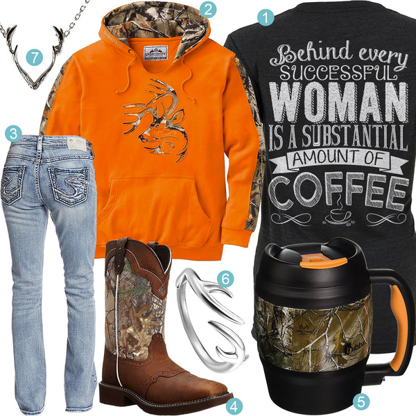 Orange Camo Coffee Outfit