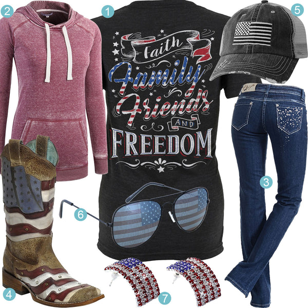 Faith, Family, Friends & Freedom Outfit