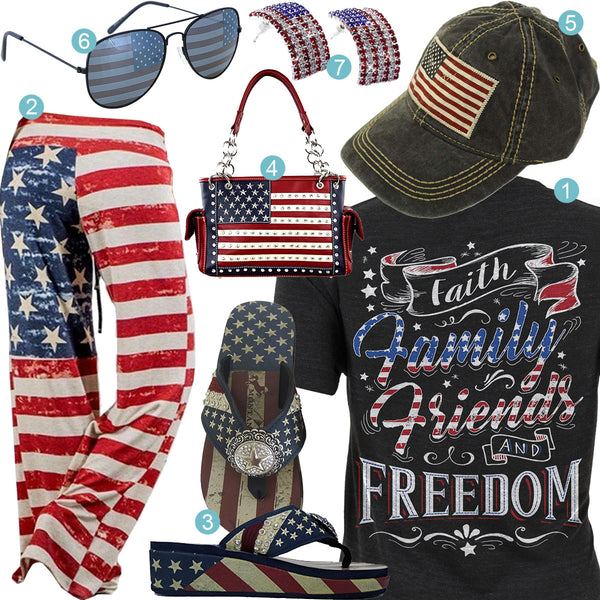 Faith Family Friends & Freedom Outfit
