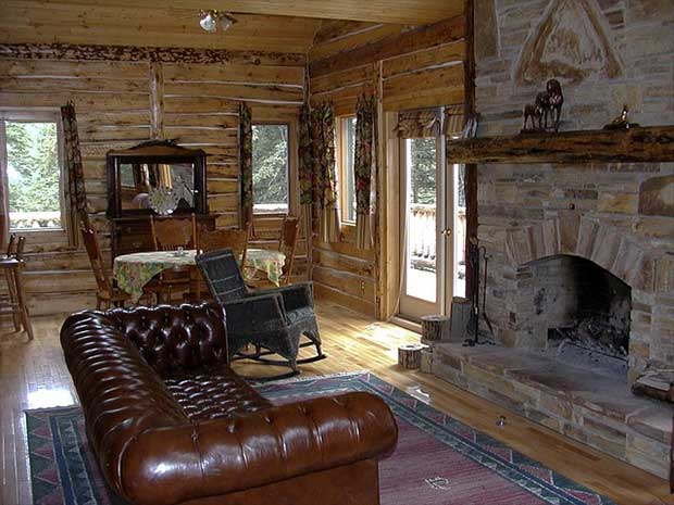 Log cabins were historically built from logs and then laid and interlocked at the ends using notches called cog joints. Some country log cabins were simply just nailed together but didn't provide the stability needed to be structurally sound. A country lo