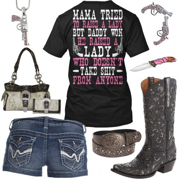 83bf9404a2c2 Mama Tried Pink Pistol Outfit - Real Country Ladies