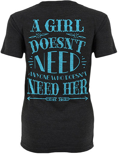 A Girl Doesn't Need Shirt