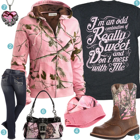 Pink Camo Full Zip Hoodie Outfit