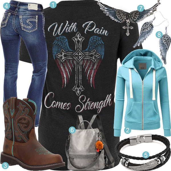 With Pain Comes Strength Outfit