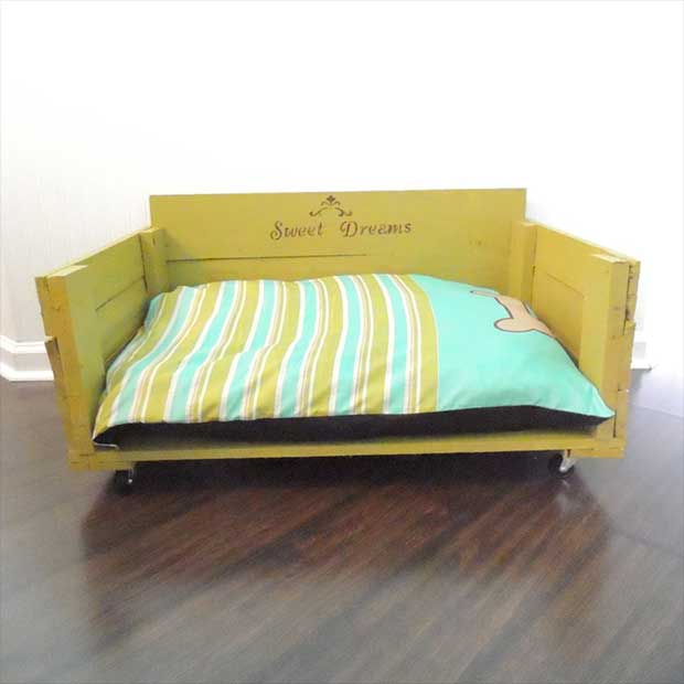 treat your big dog to a completely custom and eco friendly dog bed in your choice of paint fabric and artwork large bed is built on wheels for easy big dog furniture