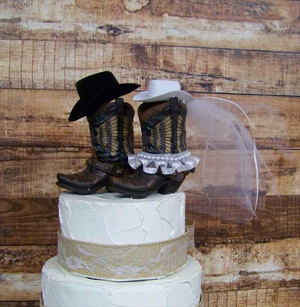10 Rustic Wedding Cake Toppers - Real Country Ladies