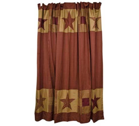 Star Shower Curtain With Patchwork Borders