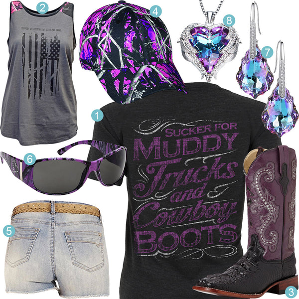 Muddy Trucks & Cowboy Boots Outfit